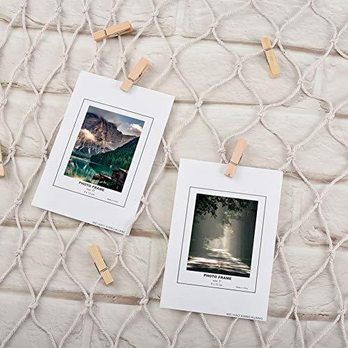 Filet de Peche Décoratif, Cizen Photo Décoration Murale +...