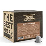 Note d'Espresso - Bebida Instantánea de Ginseng - Cápsulas Sistema Nespresso - Compatibles con Cafeteras Nespresso - 100 x 6.5 g, Total 650 g