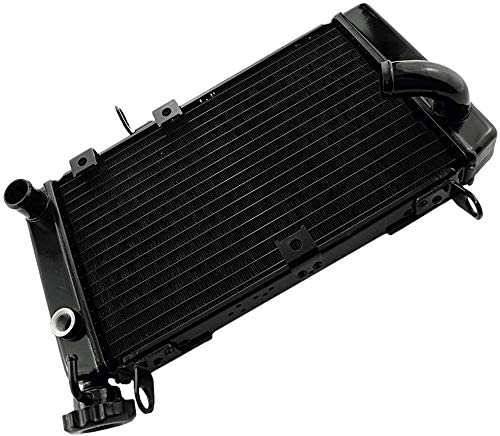 new arrival Mallofusa Motorcycle Aluminum Radiator Cooling Cooler Compatible for 2021 Suzuki SV650 SV650S 1999 2000 2001 2002 new arrival Black sale