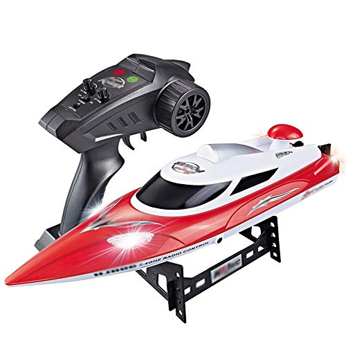 RC Ship Boats, Remote Control Boat for Pools and Lakes Racing Boats for Adults Kids Racing Boat High Speed Radio Control Top Race Remote Control Boat for 2.4GHzFrequency,Red