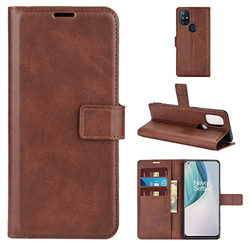 PANGTOU - Funda para teléfono Oneplus Nord N10 5G, diseño retro con hebilla, horizontal, con ranuras y tarjetero, accesorios de teléfono