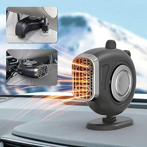 CNXUS 2 in 1 Auto Heizung Entfroster, 12V 150W Tragbar Auto Heizlüfter Ventilator Auto Defrost Defog Lüfter, 360 Grad Drehung Heizung Wärmer, 3S Schnell Erhitzen, Wenig Lärm Fenster-Entfeuchter
