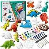 Sundaymot Juego de manualidades para niños, escayola, juego de pintura y juguetes de yeso, kit de pintura, figura de yeso para niños y adultos, regalo para pintar