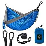 Grassman Camping Hammock Double & Single Portable Hammock with Tree Straps, Lightweight Nylon Parachute...
