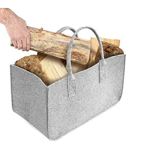 HYHY Bolsa De Fieltro Bolsa De Leña Cesta De Fieltro Leña Cesta De Leña Cesta Cesta De Periódico De Fieltro Bolsa De Compras Grande, Plegable