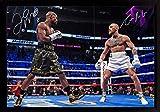 SGH SERVICES - Póster Enmarcado de Conor Mcgregor Floyd Mayweather Jr UFC MMA, póster de Artes Marciales Mixtas con Marco de MDF #9