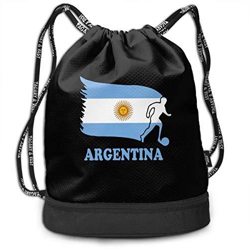 wwoman Mochila con Lazo de la Bandera de fútbol de fútbol de Argentina para Hombre y Mujer, 100{b74db4b69414bedeb1e3e9c278caf443b8d136ea3ab1a3f335d91db27ceb278d} poliéster Bolsos Originales