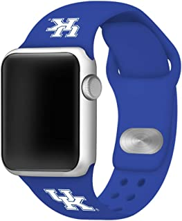 AFFINITY BANDS Kentucky Wildcats Silicone Watch Band Compatible with Smartwatches - Licensed NCAA Watch Band (42/44mm Blue)