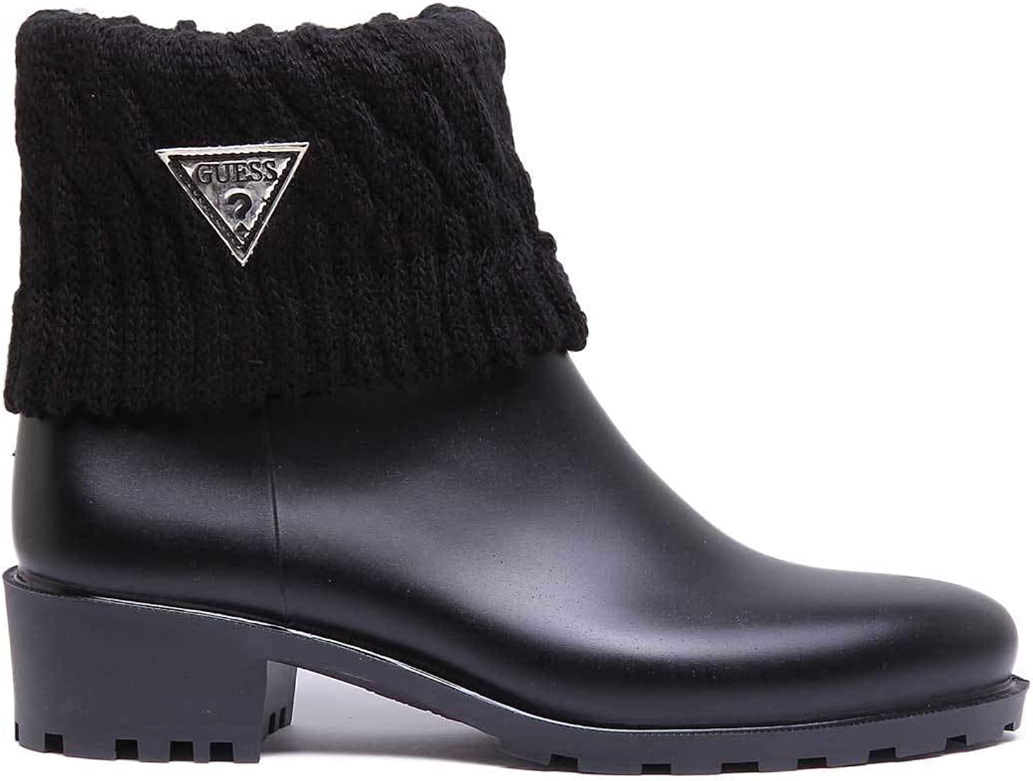 GUESS Venat Rubber Boots in Black