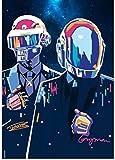 SHENGZI Canvas Poster Daft Punk Poster Alternative Abstract