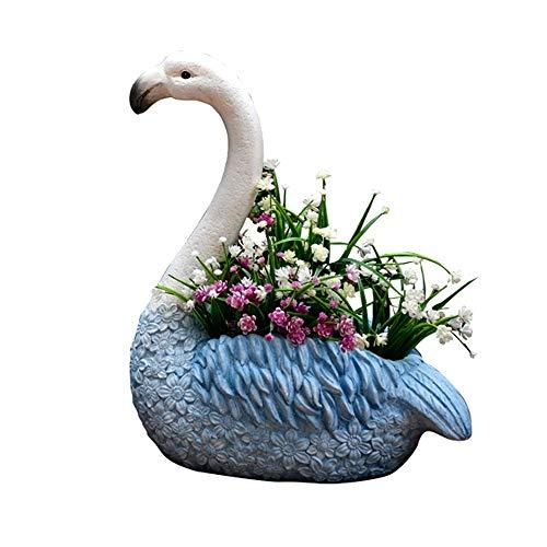 WJS Gartenkunst Gartendekoration Flamingo Sukkulenten Blumentopf Kreative Topfpflanze Outdoor Landschaft Tier Dekoration Balkon Landschaft (Color : B)