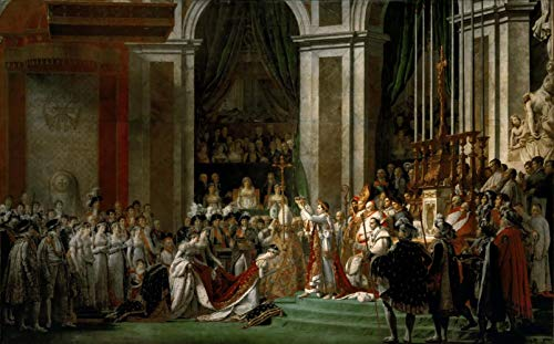 David Jacques Louis Iniciación del Emperador Napoleón I y la Corona Jigsaw Puzzle Juguete de Madera Adulto Familia Amigo DIY Challenge Wall Décor 1000 Piece