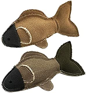 DORLIONA Cat Dog Sounder Training Product Linen Fish Shaped Toy Pet Chew Clean Teeth Toys Pet Toy : Brown, Brown
