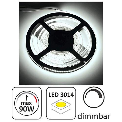 5m LED Stripe 12V dimmbar - 90W 12000lm - SMD 1200 x 3014 - 240 SMD/m - IP20 selbstklebend - tagesweiß (4000 K)