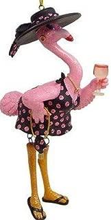 December Diamonds Felisha Flamingo Drinking Christmas Ornament 5590350,Pink,One Size