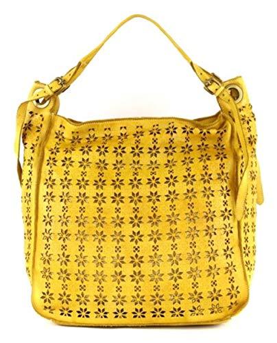 BZNA Bag Frederica gelb Italy Designer Damen Handtasche Schultertasche Tasche Leder Shopper Neu