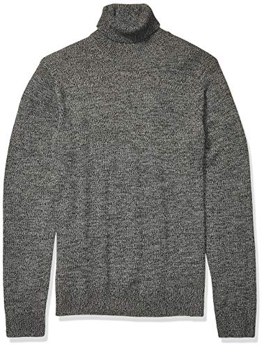 Amazon Brand - Goodthreads Men's Supersoft Marled Turtleneck Sweater, Charcoal Large