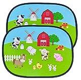 HECKBO® Parasol Autoadhesivo para Coche - protección Solar para niños (2...