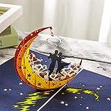 Gavenia 3D Card/Pop Up Card - Lovers Dance on the Moon - Perfect...