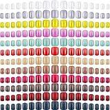 864 Piezas Uñas Cuadradas Cortas a Prensión Uña Cuadrada Mediana de Bailarina de 12 Colores Uña...