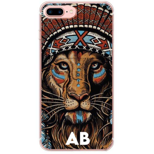 BECOVER Lion Aztec White Letter Low Cover Perfetta per iPhone 7 Plus TPU