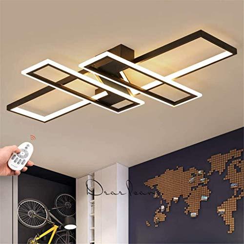 GLokpp Lampara techo lampara Salon techo lamparas Plafoniera a LED Creativo, Moderno soffitto Geometrica Luce dimmerabile da Letto lampadario a Distanza Studio Soggiorno plafoniere