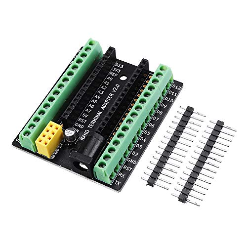 ILS - 3 Stück Nano V3.0 Terminal Adapter AVR ATMEGA328P mit nRF2401 + Expansion Interface DC Power Board für Arduino