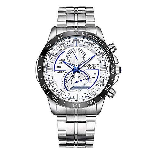 Armbanduhren männer Herrenuhr Herren Multifunctional Steel Belt Men's Watch Casual Waterproof Luminous Armbanduhr Uhren armbanduh Weiß 11510