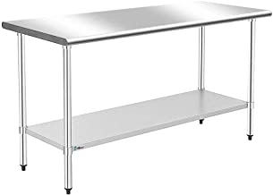 WMAOT 24 x 60 Inch Stainless Steel Table Commercial Grade NSF Kitchen Work Table (24x60 Inch)