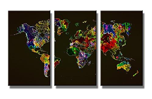 160 x 90 cm cuadro en lienzo mapamundi 1171-VKF –Cuadro impresión, Cuadro decoración