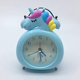 CoolGadget Unicorn Alarm Clock for Girls,Vintage Loud Twin Bell Cartoon Alarm with Button Night Light,Battery Operated Non...