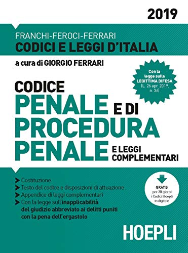 Codice penale e di procedura penale e leggi complementari 2019