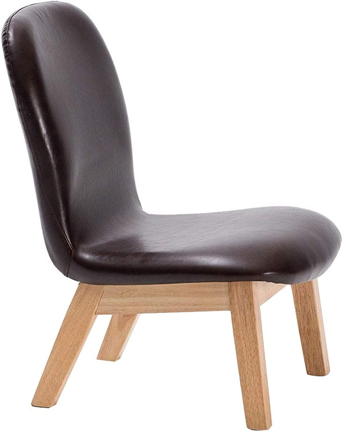 YULAN Solid Wood Stool Fabric Backrest Chair Simple shoes Bench Leisure Breastfeeding Stool Home Small Stool gold Waistline Design Waist Predector (color   Brown)
