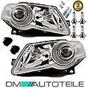DM Autoteile 2x Passat 3C Scheinwerfer Set HELLA SYSTEM 05-10+ Leuchtmittel KOMPLETT+Motor