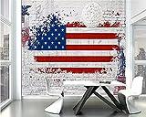 Fondo de pantalla Fotomurales bandera nacional 157.48 x 110.23 inches - 8 StripsPapel pintado tejido no tejido Decoración De Pared Sala Cuarto Oficina Salón