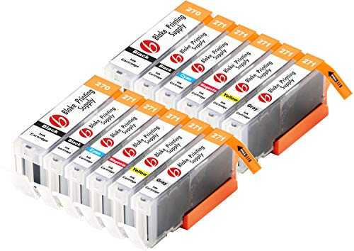 Blake Printing Supply Compatible Ink Cartridge Replacement for Canon PGI-270XL, CLI-271XL, Canon 271, Canon 270 (Pigment Black, Black, Cyan, Magenta, Yellow, Gray, 12-Pack)