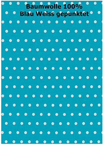 iffland MERINO EUROPA Bezug für Seitenschläferkissen 100{8e41808c7b767d0ae24c32fce2d6c36906caad78f4fa0d1ad3f2edca00d47c2f} Baumwolle passend zu Kissen von heimtextilmanufaktur (170, blau mit weißen Punkten)
