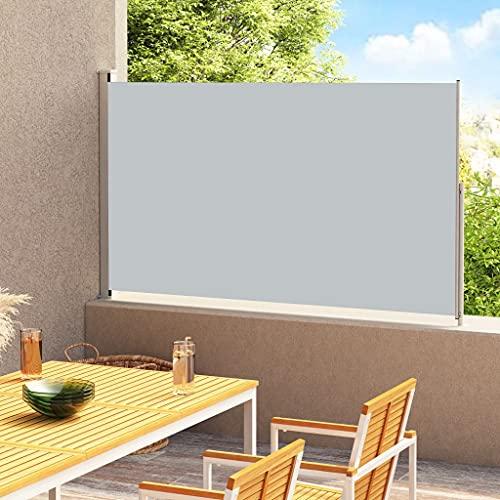 vidaXL Toldo Lateral Retráctil para Patio Jardín Separador Terraza Balcón Pantalla Solar Enrollable Retroceso Automático Gris Antracita 220x300 cm