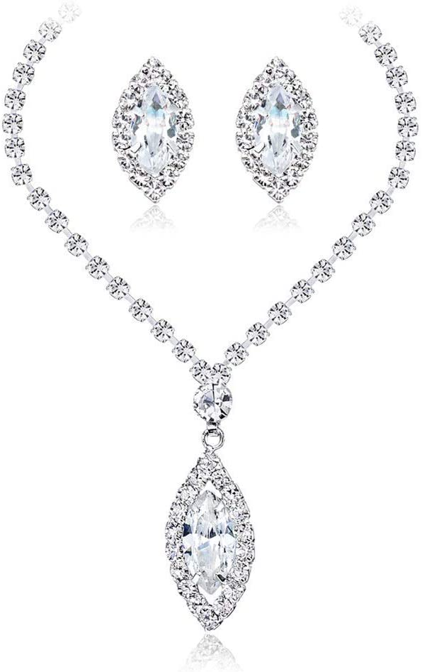 Urns Ashes Funeral Women's Jewelry Set Neckle Earrings Tears Of Angels Diamond Crystal Elegant Women Jewellery Set Of Crystal Pendant Neckle Earrings Neckle Earrings Set Wedding,Size:Free size,Colour: