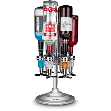 Final Touch 6 Bottle Bar Caddy Liquor Dispenser