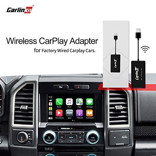 Carlinkit 2.0 Wireless Carplay Upgrade Activator para Audi/Porsche/Volvo/Mercedes Benz/Porsche/Volkswagen Original Car con CarPlay, botón de soporte del volante, iOS 13-14