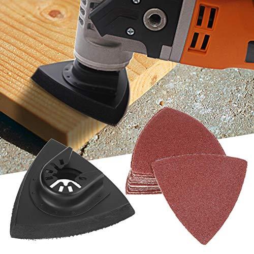 Oszillierendes Schleifset, oszillierendes Sägeschleifen, 82-teiliges Schleifset Oszillierendes Multitool-Sandkissen für Bosch Stanley Multimaster Makita Dremel für Holzplastik
