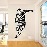 LovelyHomeWJ Joueur de Rugby Sport Sticker Mural Chambre Salle De Jeux Football Football Athlète Sticker Mural Enfants Chambre Vinyle Décor 85x54 cm