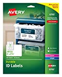 Avery Durable ID Labels, Permanent Adhesive, 2 x 2-5/8, Pack of 120 (6793), White