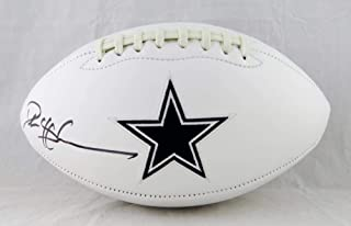 Deion Sanders Autographed Dallas Cowboys Logo Football- Beckett Auth Left