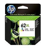 HP 62XL C2P07AE Cartouche d'Encre Grande Capacité Authentique pour Imprimantes HP Envy...