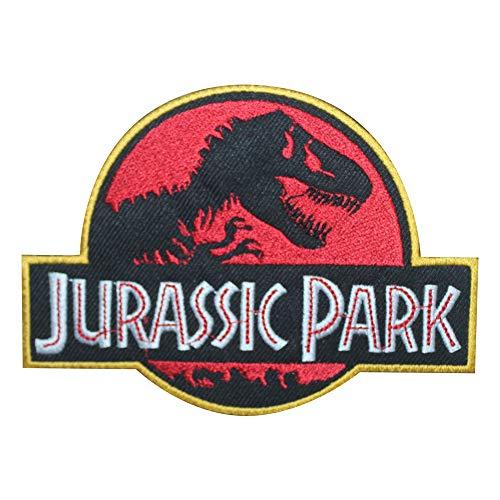 Parche de película de Jurassic Park para coser en bordado, insignia de dibujos animados