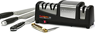 Chef'sChoice 290 AngleSelect Hybrid Diamond Hone Knife Sharpener Combines Electric and Manual Sharpening for Straight and ...