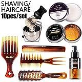 Kits, 12PCS / Set Männer Haarpflege Bart Rasieröl Haarwachs Kamm Haarspülung Ätherisches Öl...