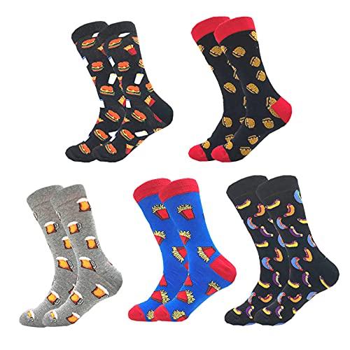 Oulyfuyo Socken Herren Damen 5 Paare Baumwolle Sneaker Socken Bunte Lustige Socken Unisex Fun Muster Witzige Socks 38-46